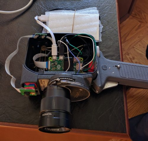 Pi-powered Mansfield Holiday Zoom Movie Camera