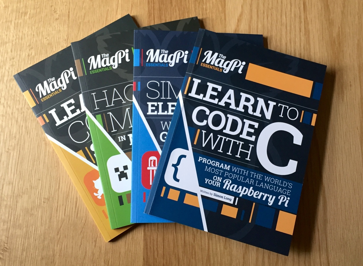 Essential reading: The MagPi's new coding books are out now