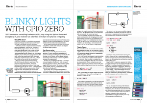 Blinky lights tutorial page from MagPi