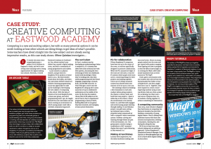 Case study page from MagPi about Eastwood Academy