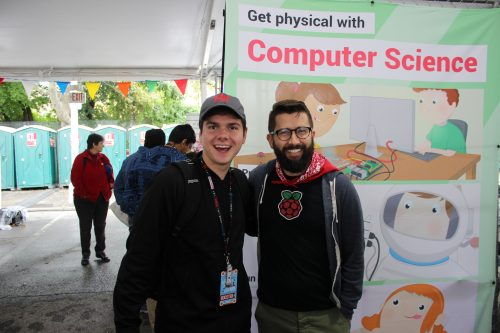 Matt meets maker Gerald Burkett at World Maker Faire New York 2016.