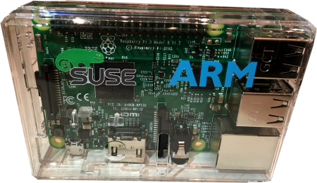 SUSE and ARM distributed these natty cased Raspberry Pi units at last week's SUSEcon
