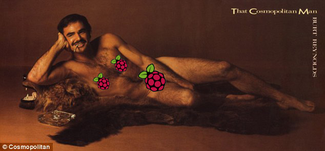 A photo Burt Reynolds turning on the Raspberry Pi romance