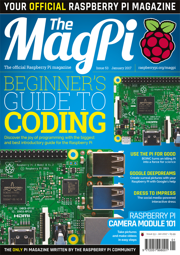 The MagPi 53 out now! Free Debian + PIXEL DVD
