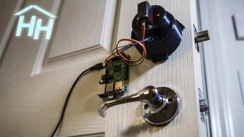 Hacker House Smartphone Connected Door Lock Raspberry Pi