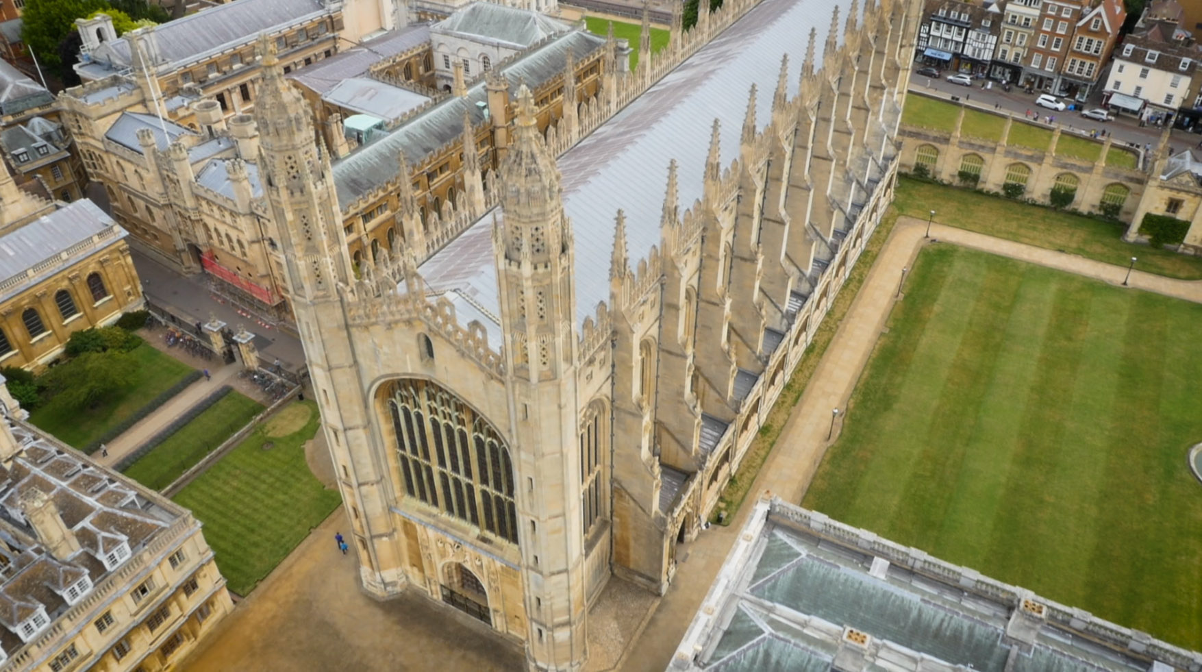 King's College Chapel from above