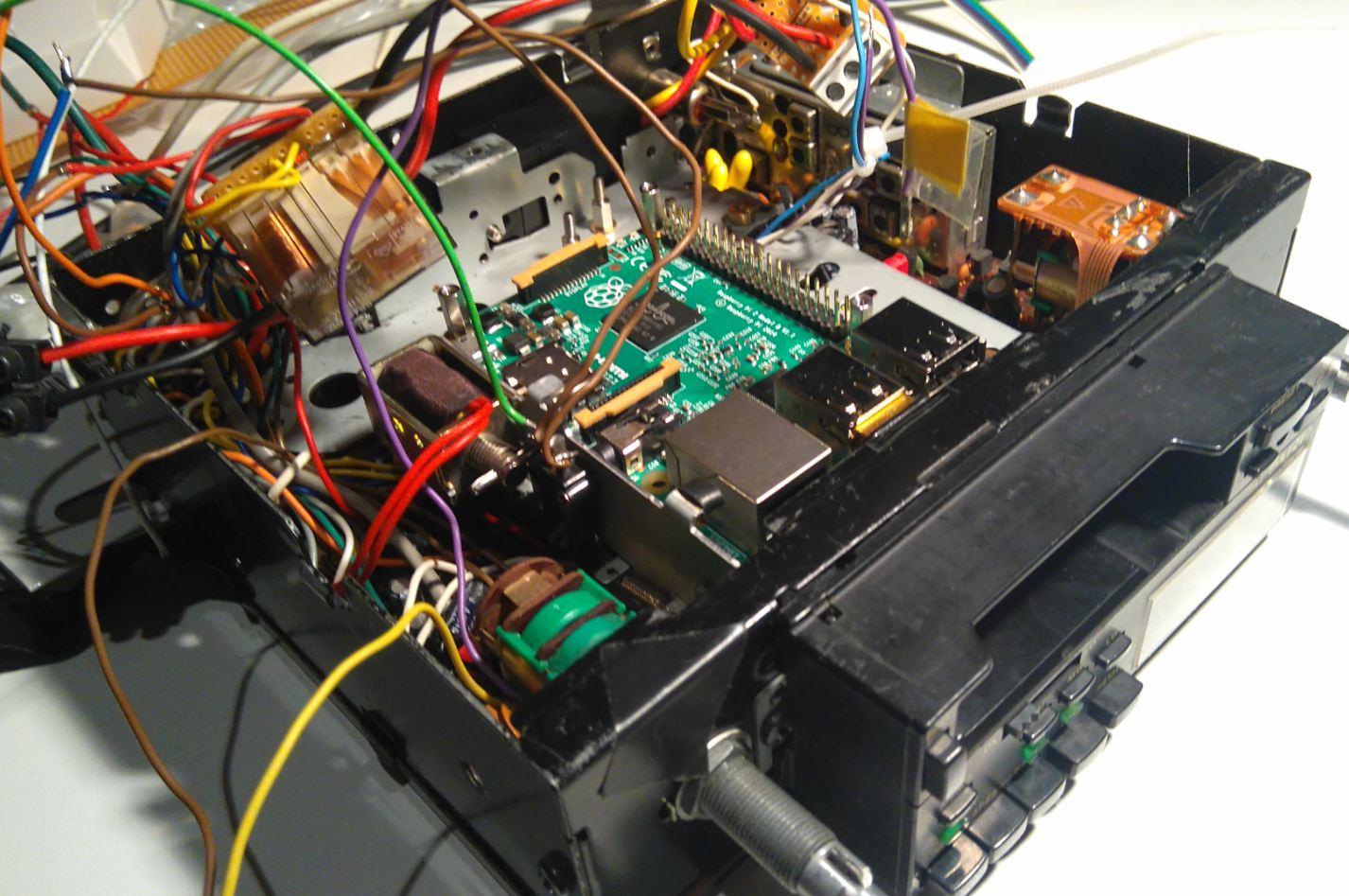 Cassette deck in an old Ferrari, Pi-fied - Raspberry Pi