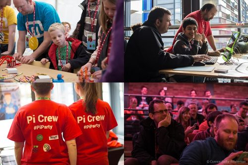 Collage of Raspberry Pi and Code Club fifth birthday images