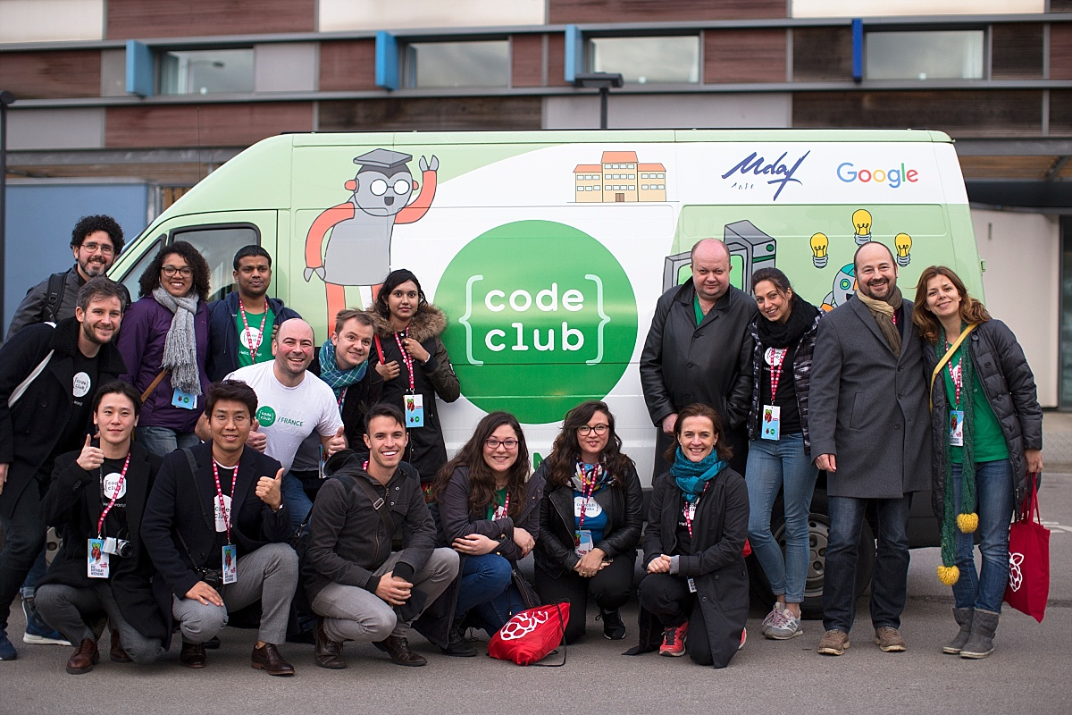 Representatives of Code Club International at the Raspberry Pi fifth birthday party