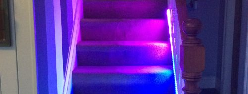 Lorraine Underwood Neopixel stair way lights