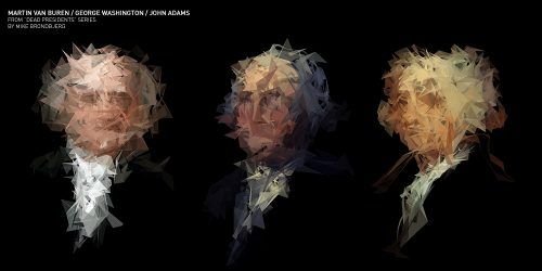 Image of Dead Presidents by Mike Brondbjerg art made with Processing