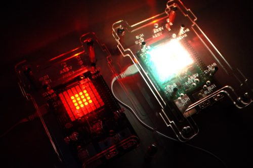 Image of Tableau generative music device with Sense HAT illuminated
