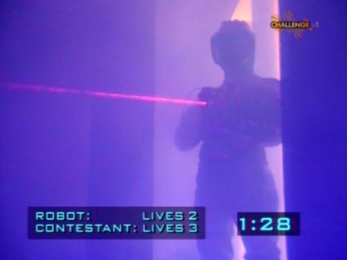 Crystal Maze laser trip wire screengrab