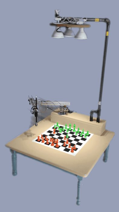 The Raspberry Turk chess-playing robot