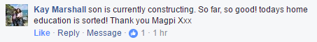 Screenshot of Facebook comment on AIY kit