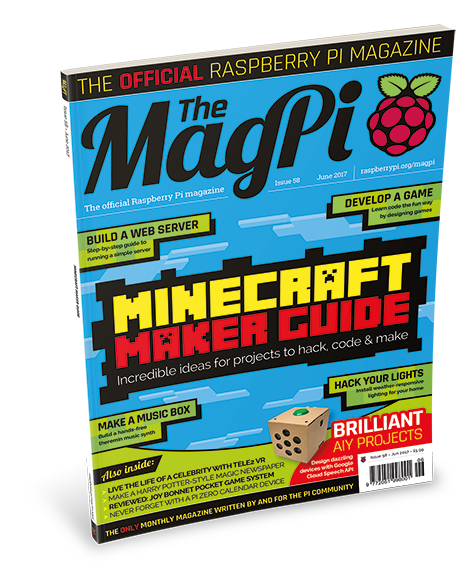 The front cover of The MagPi 58