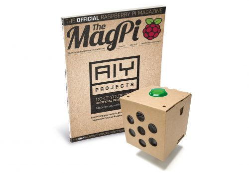 Image of MagPi magazine and AIY Project Kit