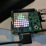 Julia language logo on the Sense HAT LED array
