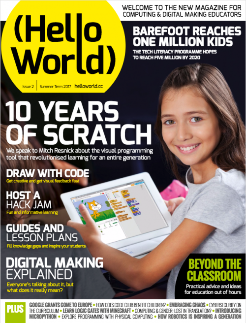 Cover of issue 2 of hello world magazine