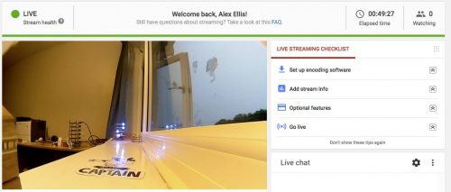 YouTube live-streaming Docker Raspberry Pi