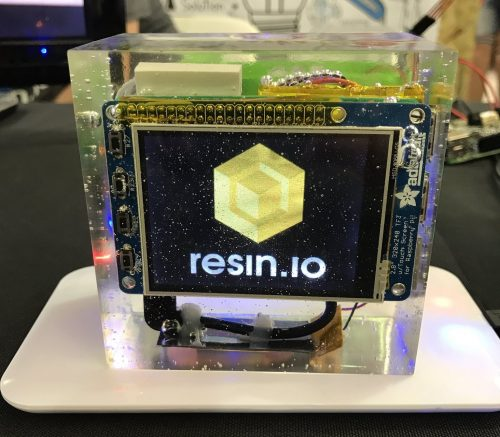 Resin.io in resin epoxy-encased Raspberry Pi