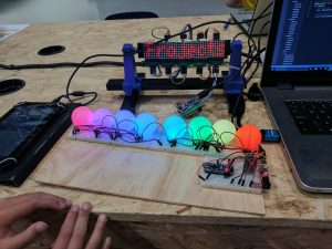 Coolest Projects 2017 LED ping-pong ball display