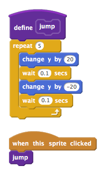 Custom 'jump' block on Scratch 2.0