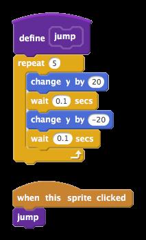 Custom 'jump' block on Scratch 2.0