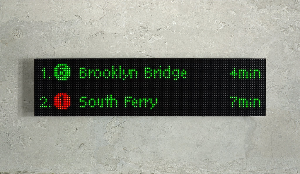 NYC Train Sign Raspberry Pi