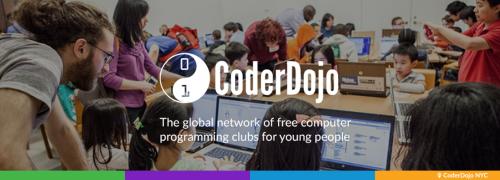 CoderDojo banner — 2000 Dojos