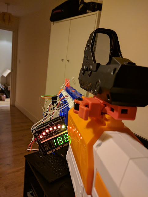 View of Michael Darby's nerf gun range finder