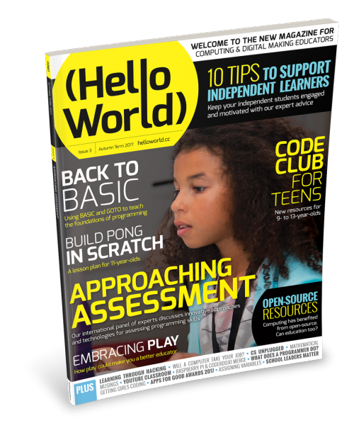 The front cover of Hello World 3