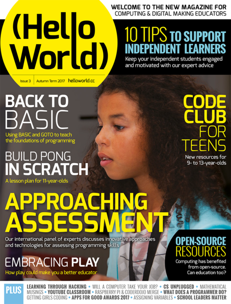 The front cover of Hello World Issue 3