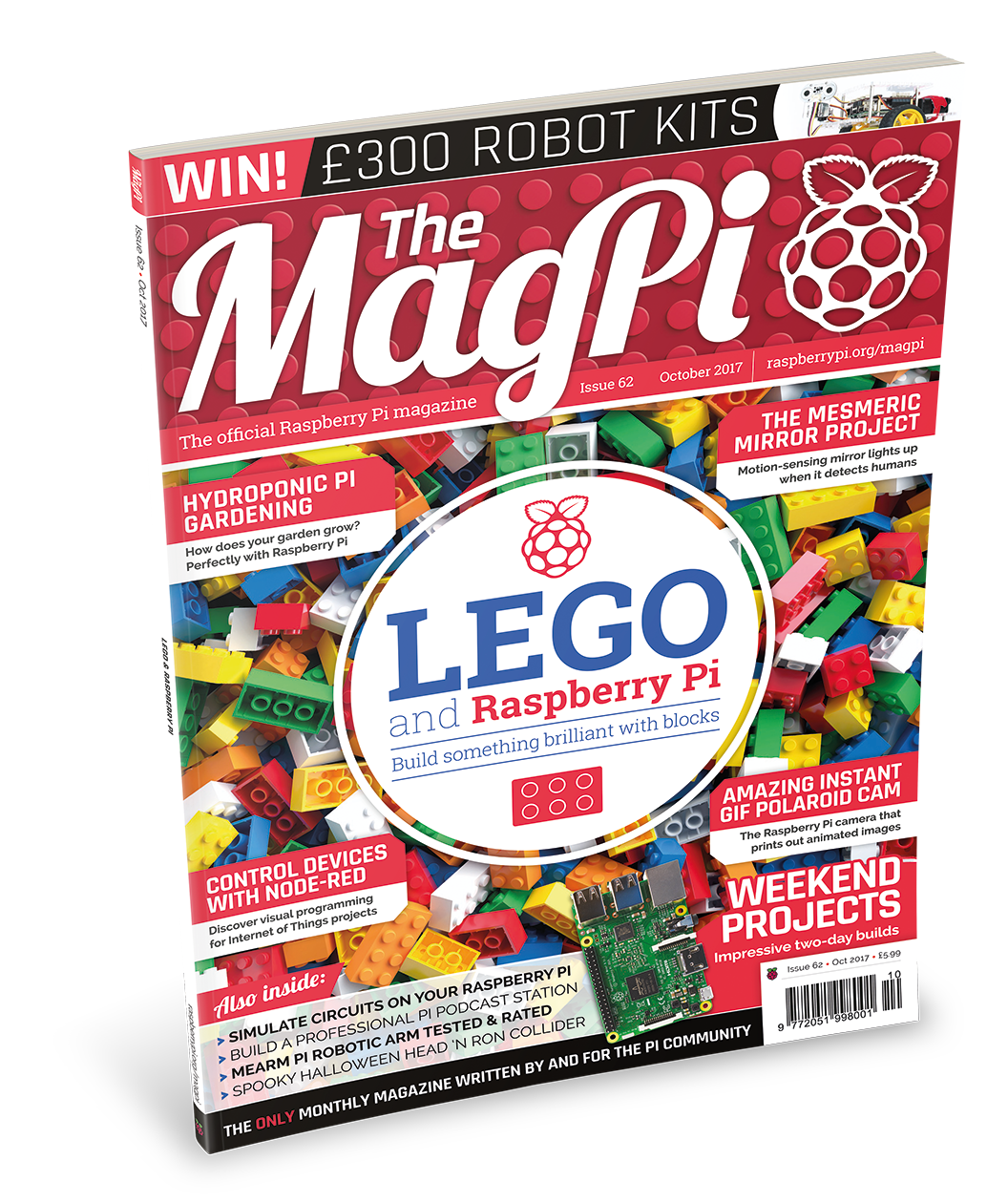 Front cover of The MagPi 62 LEGO