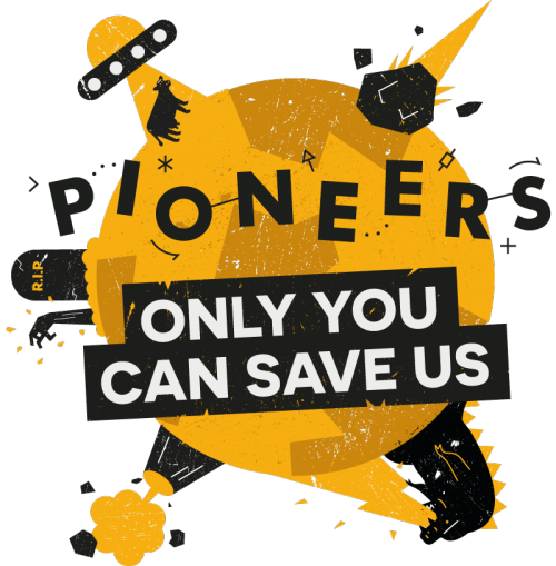 Pioneers 'Only you can save us' logo - Raspberry Pi free resources zombie survival