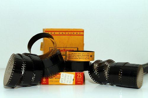 Super 8 film reels