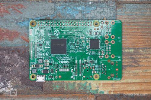 Pimoroni Thinnest Raspberry Pi 3 desoldered pi