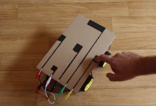 Low-tech cardboard robot buggy