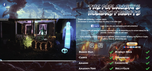 Poplawski's Holiday Frights website Raspberry Pi Halloween