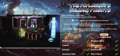 Poplawski's Holiday Frights website Raspberry Pi Halloween