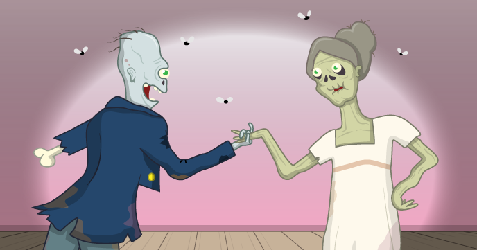 Sketch of a G eorgian zombie couple - Raspberry Pi free resources zombie survival