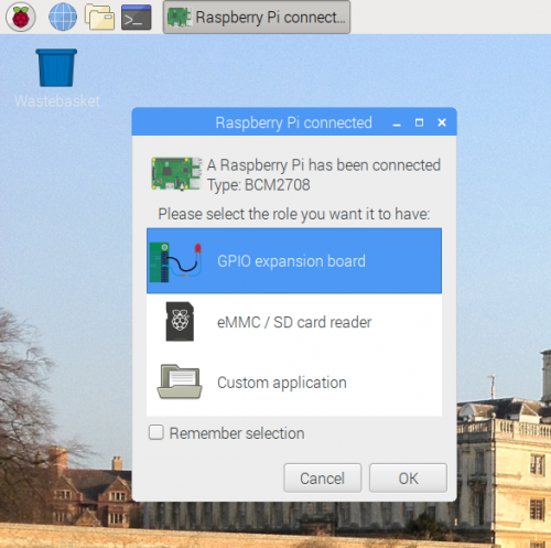 A screenshot of the GPIO expander GUI