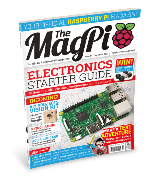 The front cover of MagPi 64