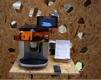 BitBarista fully autonomous coffee machine using Raspberry Pi