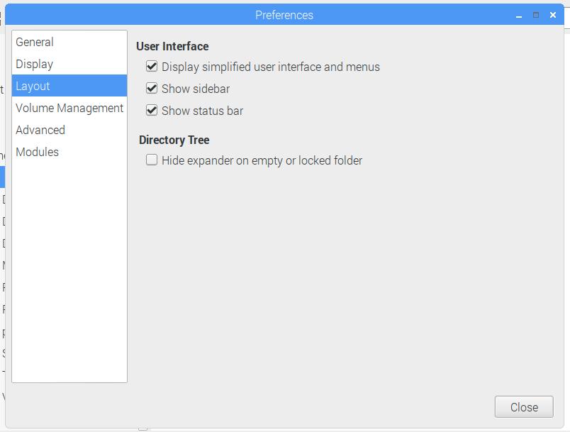 Raspberry Pi Desktop Stretch - preferences GUI