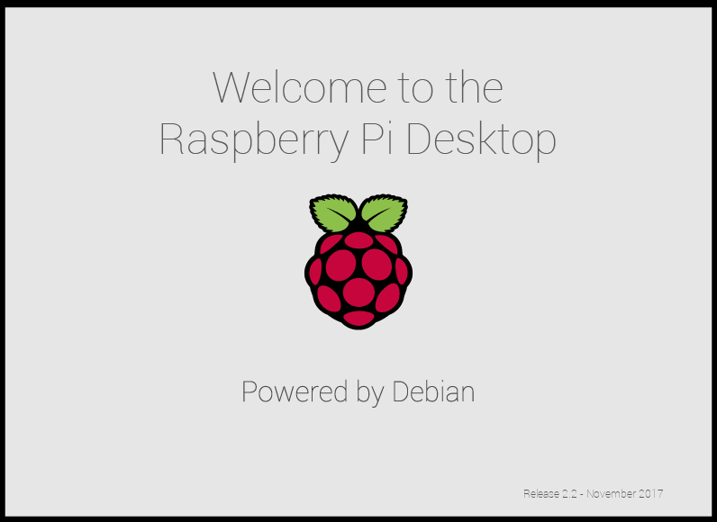 Raspberry Pi Desktop splash screen