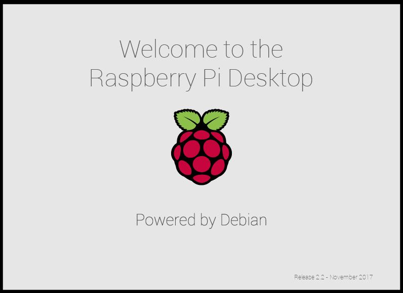 Raspberry Pi Desktop Stretch splash screen