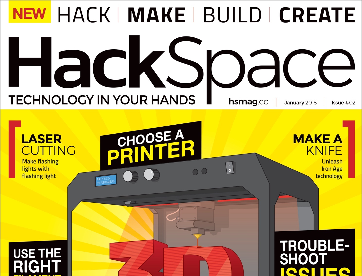 HackSpace magazine 2: 3D printing and cheese making