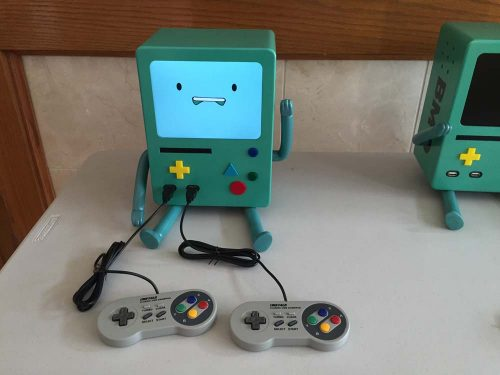 BMO connected to SNES controllers - Raspberry Pi BMO Laura Herzberg Bob Herzberg