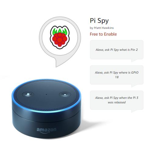 Pi Spy Alexa Skill Raspberry Pi